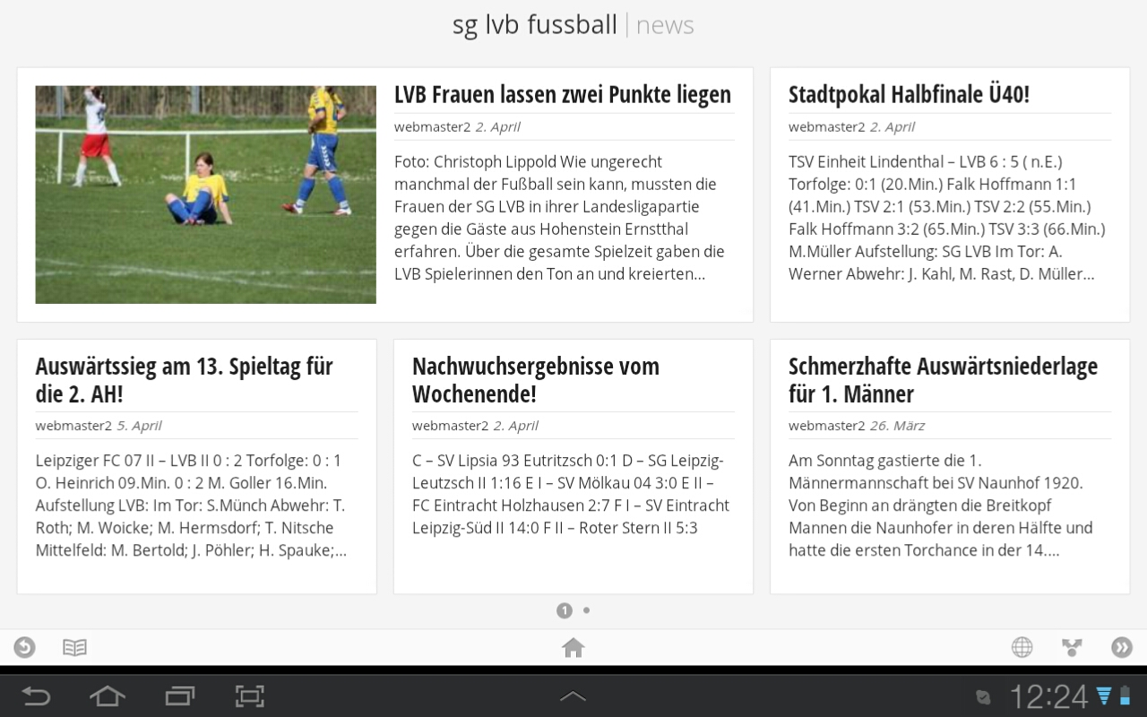 SG LVB Fussball bei Google Currents